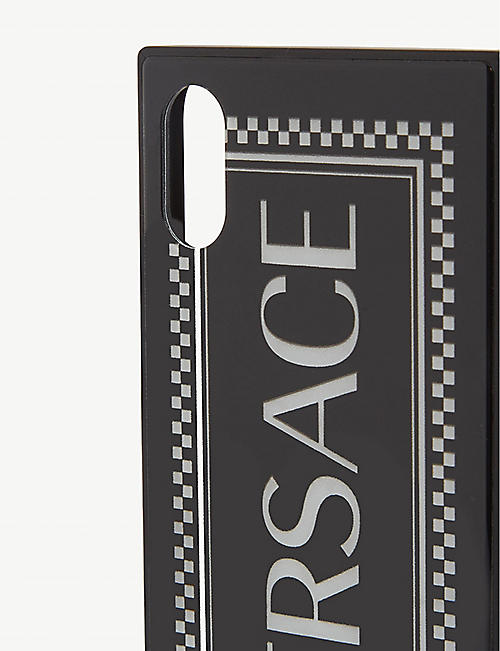 VERSACE Tile print glass iPhone X/XS case