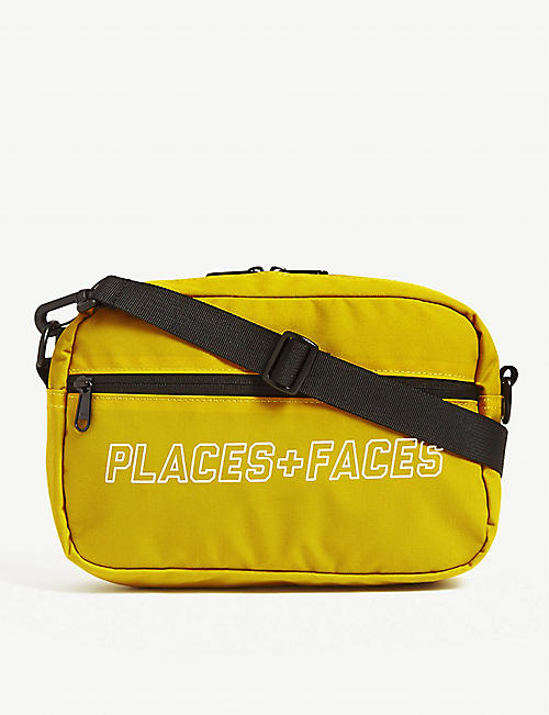 PLACES + FACES Logo reflective nylon pouch
