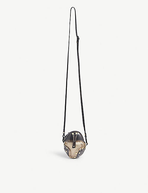 INNERRAUM Egg studded shell cross-body bag