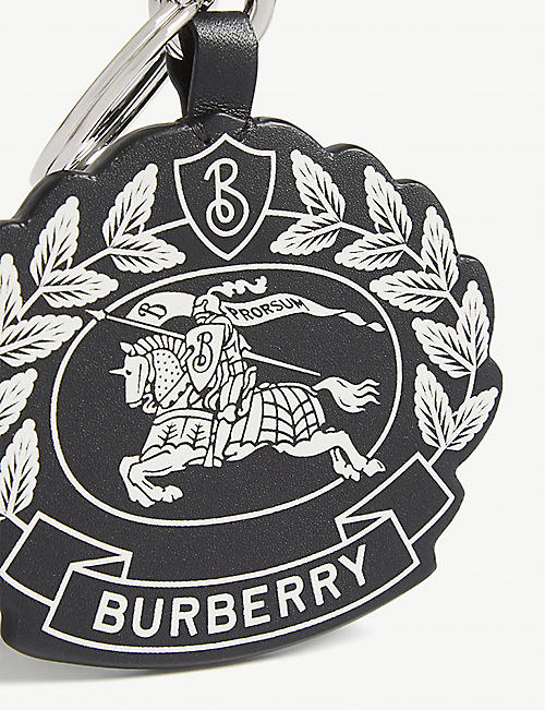 BURBERRY Leather crest key charm