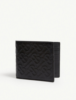 BURBERRY Monogram leather billfold wallet