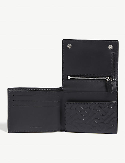 BURBERRY Monogram leather trifold wallet