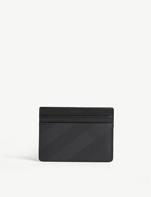 BURBERRY Sandon London check card holder
