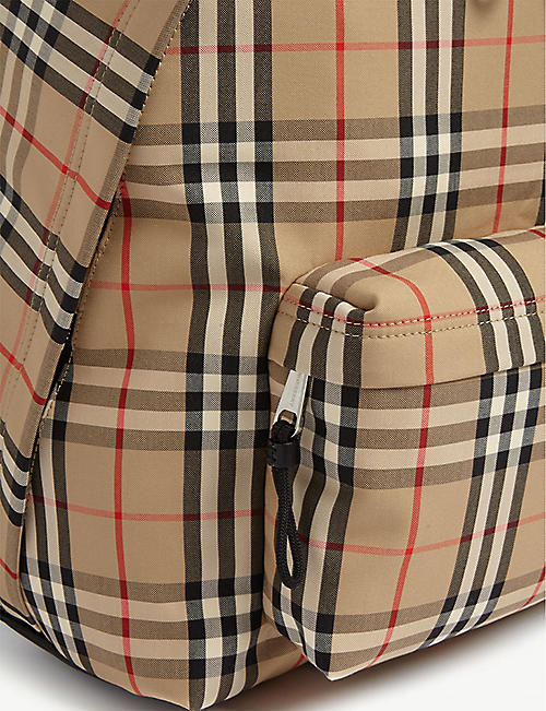 BURBERRY Vintage check canvas backpack