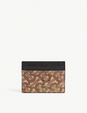 BURBERRY Sandon 3D logo leather card holder