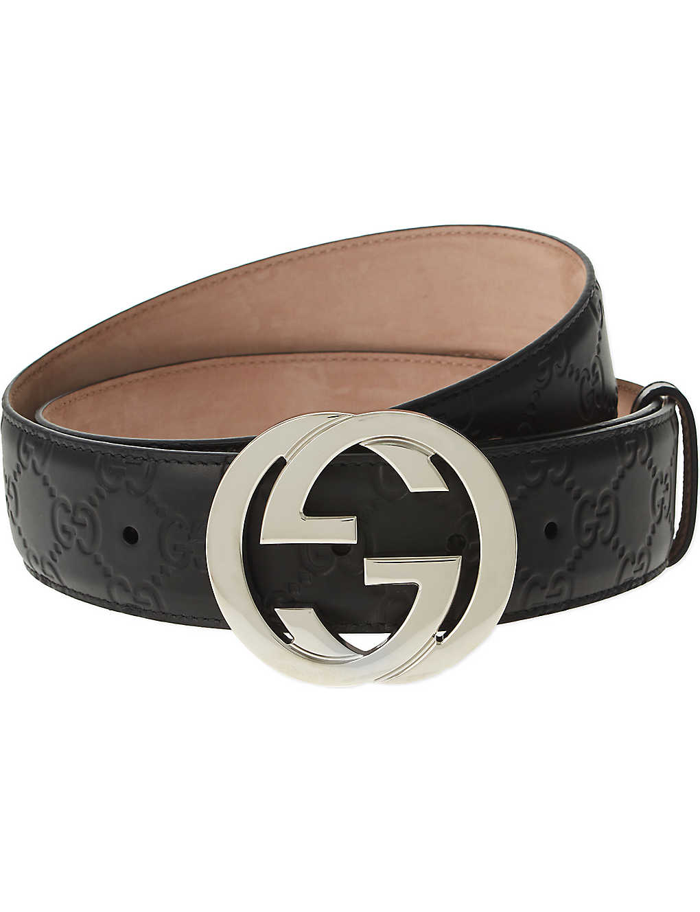 53d55bbea8a8c8 GUCCI - Leather logo belt | Selfridges.com