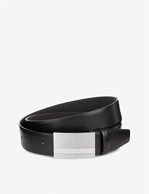 BOSS Baxton leather belt