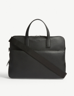 BOSS Crosstown leather document case