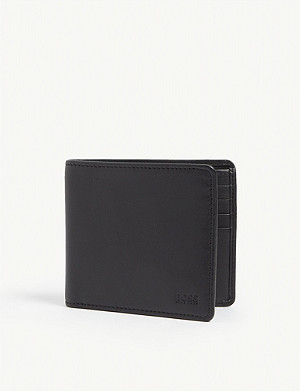 BOSS Leather billfold wallet