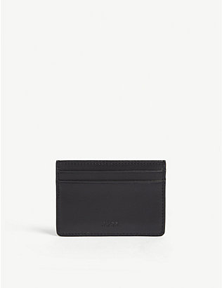 BOSS: Leather card holder