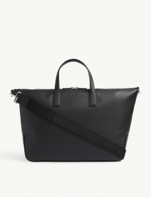 BOSS Crosstown leather holdall