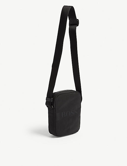 BOSS Pixel nylon cross-body bag