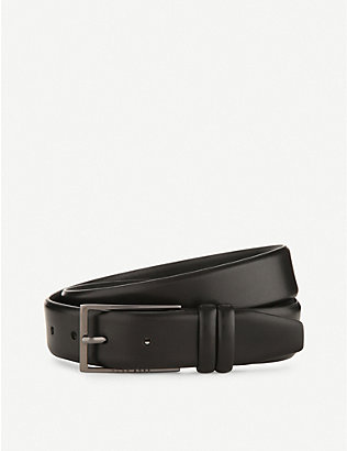 BOSS: Brushed leather belt