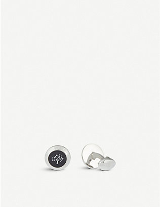 MULBERRY: Enamel coin cufflinks