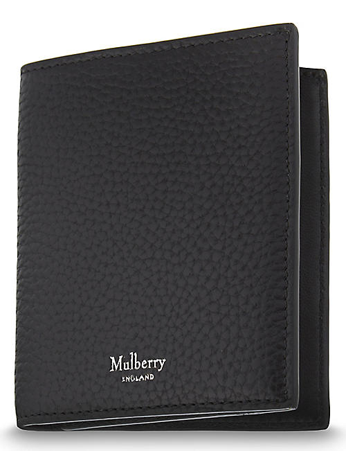 fa89fd27501e MULBERRY Trifold grained leather card wallet