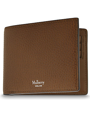 MULBERRY: Grained leather billfold wallet