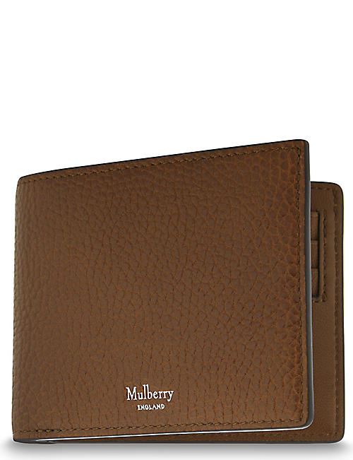 MULBERRY Grained leather billfold wallet