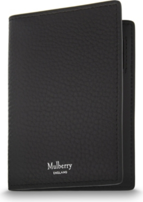 MULBERRY Grained leather card wallet