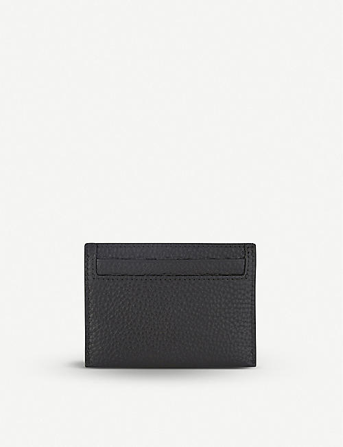 MULBERRY Grained leather card holder