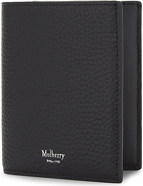 MULBERRY Trifold grained leather card wallet