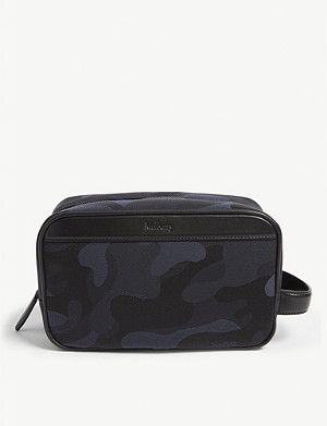 MULBERRY Camouflage nylon wash bag