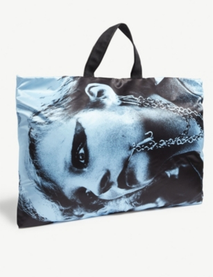 EASTPAK Raf Simons Punk girl poster tote bag
