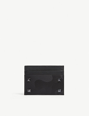 VALENTINO Rockstud camouflage card holder