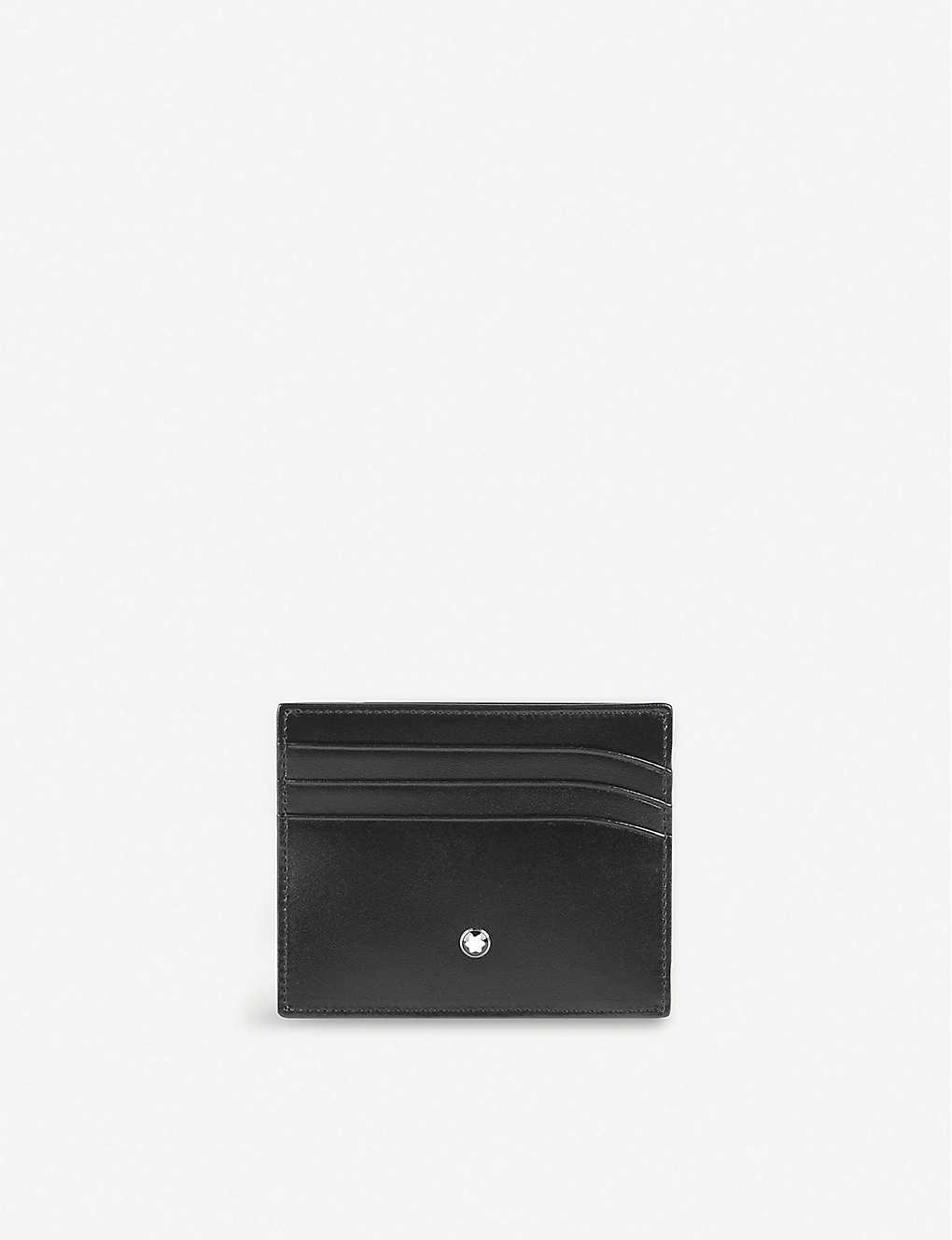 0e2d5a872d MONTBLANC - Meisterstück leather 6cc credit card holder   Selfridges.com