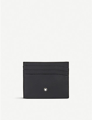 MONTBLANC: Grained leather card holder