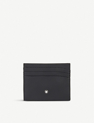 MONTBLANC Grained leather card holder