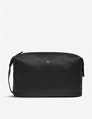 MONTBLANC: Meisterstück soft grain leather wash bag