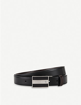 MONTBLANC: Embossed leather belt