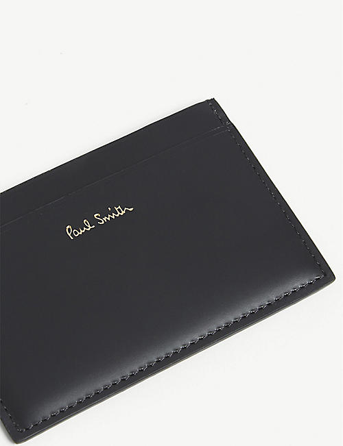 PAUL SMITH ACCESSORIES 迷你幻灯片皮革CARD卡夹
