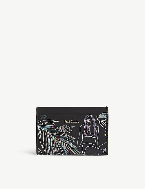 PAUL SMITH ACCESSORIES Beach sketch leather card holder