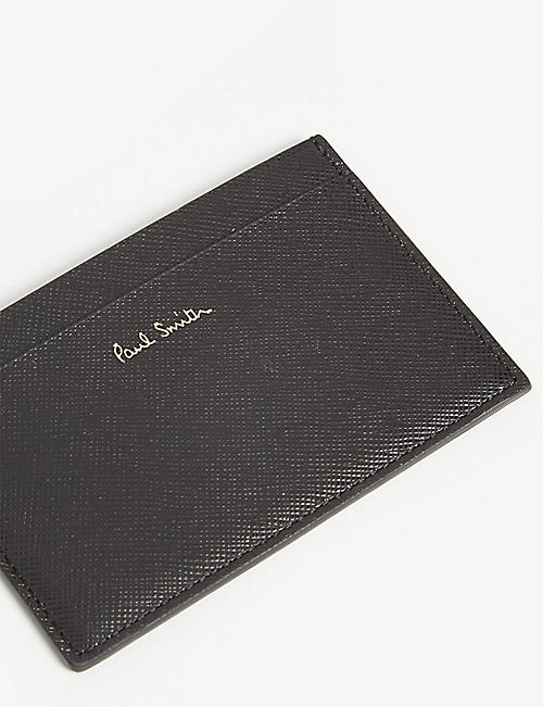 PAUL SMITH ACCESSORIES Striped Mini leather card holder