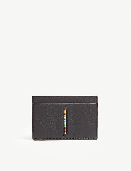 PAUL SMITH ACCESSORIES Centre stripe leather cardholder