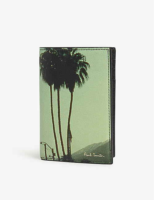 PAUL SMITH ACCESSORIES Palm tree photo leather wallet