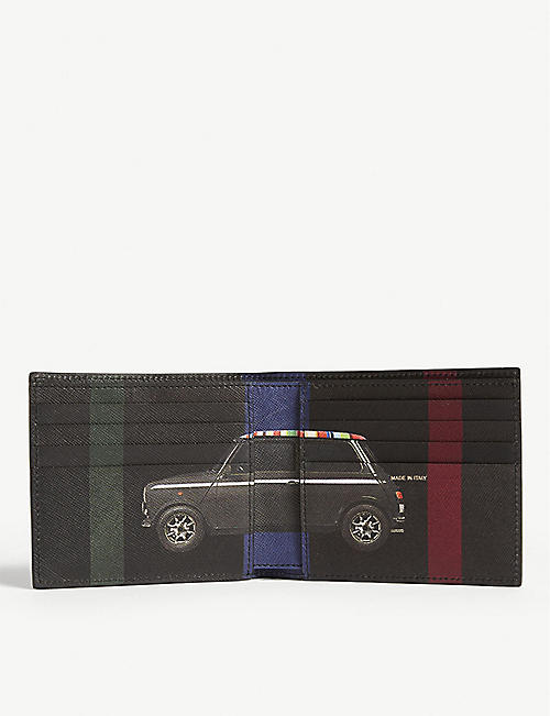 PAUL SMITH ACCESSORIES Striped Mini leather billfold wallet