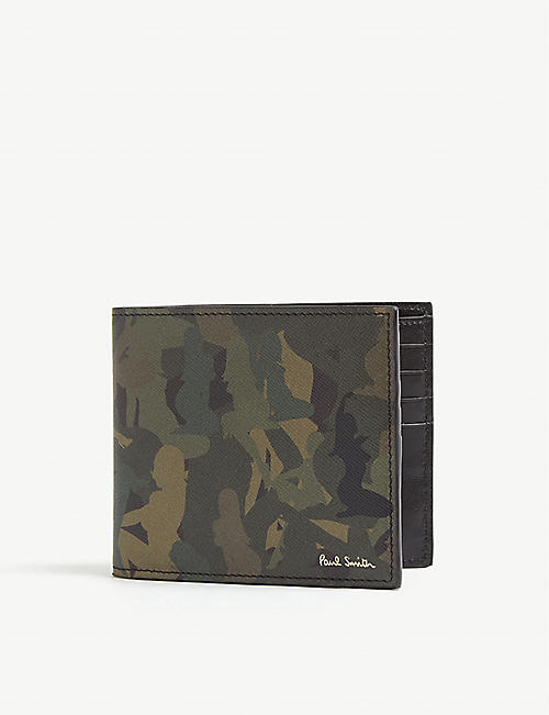PAUL SMITH ACCESSORIES Naked lady camouflage print leather wallet