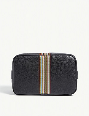 PAUL SMITH ACCESSORIES Artist Stripe leather washbag