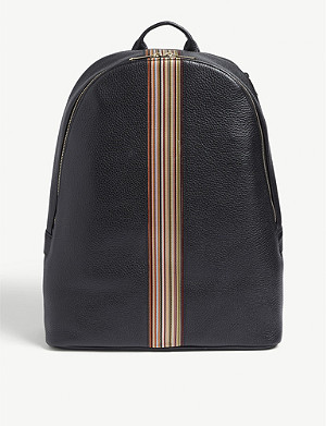 PAUL SMITH ACCESSORIES Signature stripe leather backpack