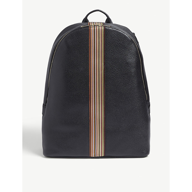 PAUL SMITH | Signature Stripe Leather Backpack | Goxip