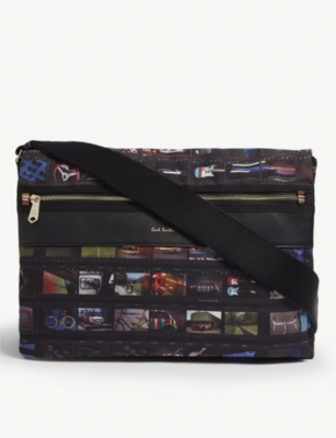 PAUL SMITH ACCESSORIES Mini filmstrip print canvas messenger