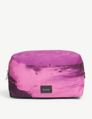 PAUL SMITH ACCESSORIES Printed cotton wash bag