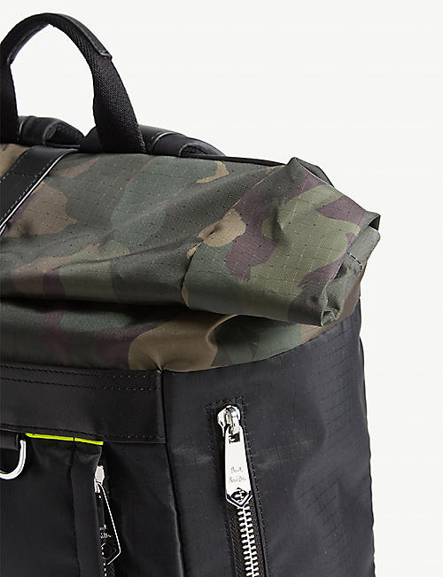 PAUL SMITH ACCESSORIES Naked Lady camouflage-print shell backpack