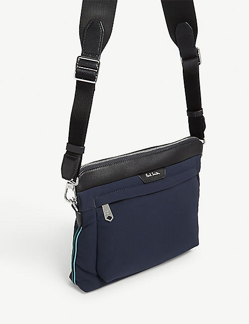 PAUL SMITH ACCESSORIES Leather-trimmed nylon cross-body bag