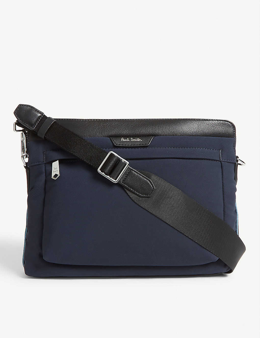 4fa4a933f PAUL SMITH ACCESSORIES - Leather-trimmed nylon cross-body bag ...