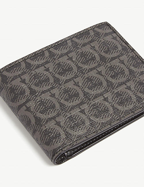 SALVATORE FERRAGAMO Gancini coated canvas billfold wallet