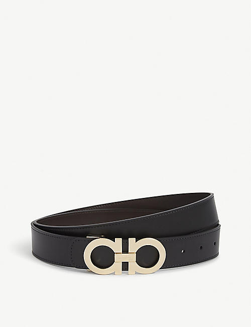 SALVATORE FERRAGAMO Reversible leather logo belt f93af97a5