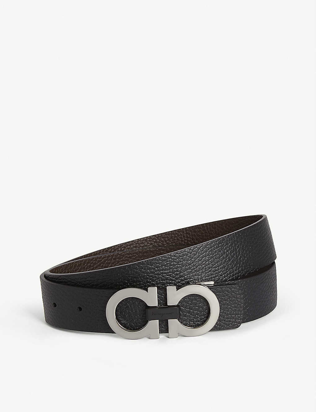 2be102211 SALVATORE FERRAGAMO - Gancini reversible leather belt | Selfridges.com